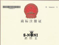 诺丽王商标专利文件